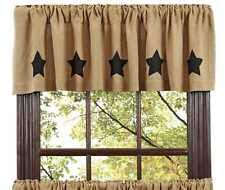 Victorian window treatments Roller Blind Burlap Natural Black Stencil Stars Valance Window Treatment 16x72 Reallifewithceliacdisease Victorian Heart Window Treatment And Hardware For Sale Ebay