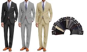 Up To 60 Off On Braveman Mens Classic Fit Suits Groupon