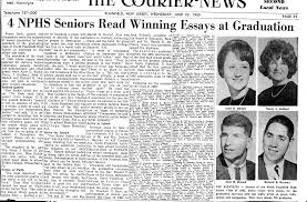 nphs class of graduation day  graduation essay winners courier news 23 1965