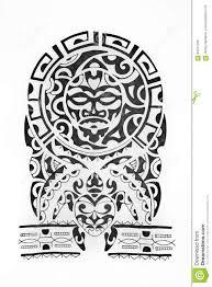 эскиз в стиле полинезии на белой предпосылке иллюстрация штока