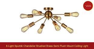 sputnik ceiling light brass 8 chandelier brushed semi flush mount lighting best ers outdoor ceil