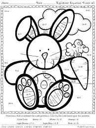 Colors Code Math Ideas Collection Math Coloring Worksheets Spring