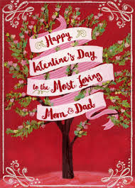 happy valentine s day dad.  Day Most Loving Tree Mom U0026 Dad Valentines Day Card By Designer Greetings  735882649060  EBay Intended Happy Valentine S