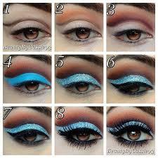 makeup blue and make up image