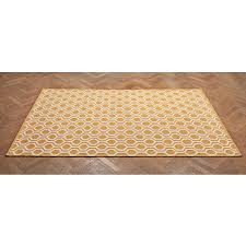 large floor rug yellow and off white yellow and white geometric floor rug
