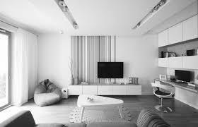 Monochrome Living Room Decorating Ideas For Wall Decor In Apts Imanada Narrow Apartment Living Room
