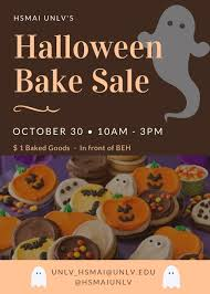 halloween sale flyer hsmai s halloween bake sale calendar university of nevada las