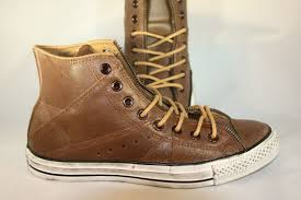 men s converse chuck taylor motorcycle brown leather hi top