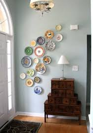 wall art ideas for living room painting colorful wall art design plate hangs on blue wall