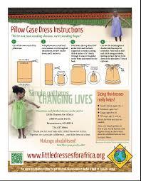 Pillowcase Dress Pattern Best Pillow Case Dress Directions Little Dresses For Africa