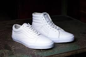 vans old skool white. vault by vans releases all-white old skool and sk8-hi lx white o