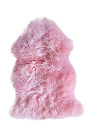 image of kinetic natural new zealand single sheepskin rug 2ft x 3ft pink