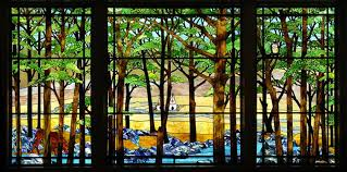 stained glass window panels within tiffany victoria homes design ideas 10