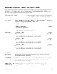 Mba Sample Resumes Sample Resume Here Are Admission Resume Program