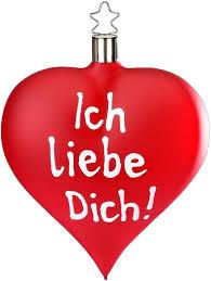 Inge Glas Christbaumschmuck Ich Liebe Dich 1 Tlg Herzform Online Kaufen Otto