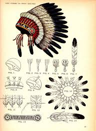 make an indian headdress old scout drawing