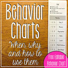 Free Behavior Charts For 2nd Graders Behavior Charts When Why And How To Use Them Freebie