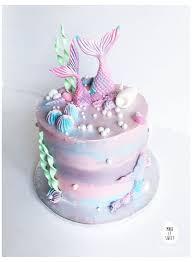 Eine Meerjungfrau-Torte für Mädchen #<b>pink</b> #<b>mermaid</b> #cake ...