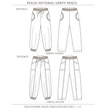 Pants Patterns Amazing Happy Pants Harem Cargo Style Pants PDF Sewing Pattern For Girls