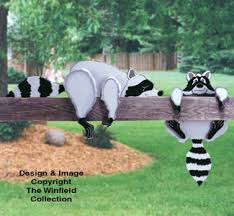 Wood Craft Patterns Interesting All Yard Garden Projects Raccoon Rail Pets Woodcraft Pattern