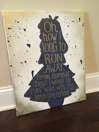 Alice In Wonderland Quote Cool Alice In Wonderland Silhouette With Quote Navy Blue And Gold On