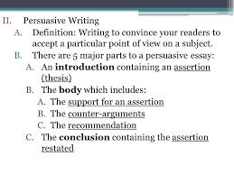 persuasive writing part w m bellwork a complete  persuasive writing a definition writing to convince your readers to accept a