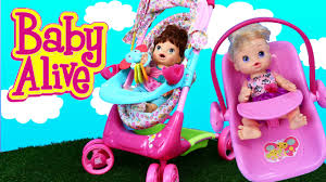 Baby Alive Stroller & Car Seat Travel System With Lucy Doll - YouTube