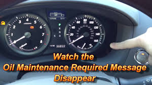 Low Engine Oil Level Warning Light Lexus How To Reset Oil Maintenance Required Light Lexus Es350
