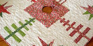 Quilted Christmas Tree Skirt Pattern Cool Decorating Design