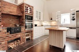 Exposed Brick Kitchen Kitchen With Brick Wall Zampco