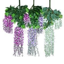 105cm <b>Artificial Silk</b> Wisteria <b>Fake</b> Garden Hanging <b>Flower Plant</b> ...