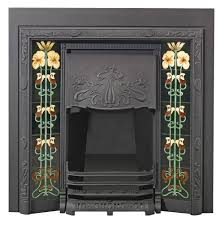 purchase this timelessly elegant stovax art nouveau tiled convector fireplace available in matt black highlight polished or fully polished finishes