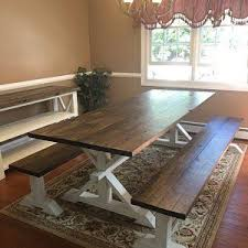 Pin by Sherrie kirk on Farmhouse Table in 2020 | Farmhouse table with  bench, Rustic farmhouse table, Farmhouse dining room table
