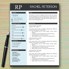 Stylish Resume Templates Word Professional One Page Resume Template For Microsoft Word With Photo 10