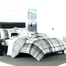 plaid comforter cover set green flannel duvet buffalo black and white cove