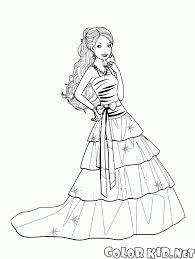 Disegni Da Colorare Barbie E Vestito Elegante