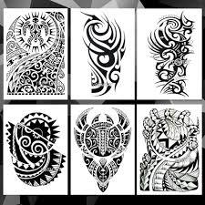 водонепроницаемые временные наклейки тату на руку тотемное племя