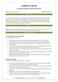 Accounts Payable Resume Gorgeous Accounts Payable Lead Resume Samples QwikResume