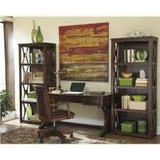 devrik home office desk chair 1. signature design by ashley devrik home office desk chair with exposed wood arms 1