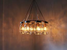 warm mason jar chandelier