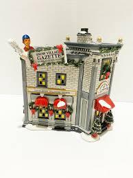 Department 56 City Lights Christmas Trimmings Retired Dept 56 Snow Village Gazette Christmas Lights Up Ceramic Collection Mint