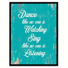 office motivation ideas. Dance Like No One Is Watching Motivation Quote Saying Home Decor Wall Art Gift Ideas 111707 Office