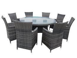 9 piece wicker dining sets patio round