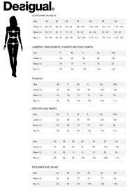 Desigual Size Chart Hartleys Hartleys Fashion