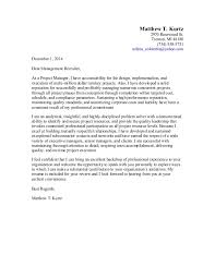 Project Manager Cover Letter For Resume Business Project Manager