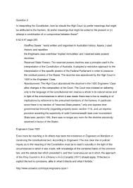 Common Law Essay Readings For Essay 1 Legalism And An Australian Common