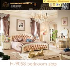 Luxury Classical Solid Wood White Bedroom Furniture For Adults ...