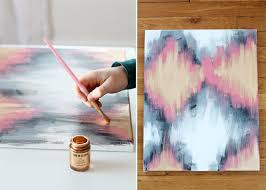 DIY Painted Ikat Art - Creating your own custom artwork is easy! Just  follow these