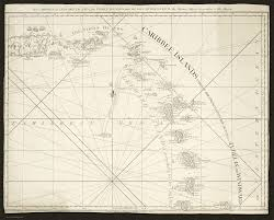 Chart Of Caribbean Islands The Caribbee Or Leeward Islands The Virgin Islands And The