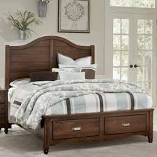 American Maple Cottage Cherry Panel Bed With Storage